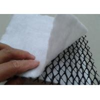 Buy cheap HDPE 3D Composite Geonet / Geocomposite Drain Width 1 - 4m with white geotextile product