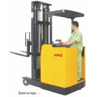 Buy cheap Standing Reach Truck 1.5 Ton Capacity , Electric Counterbalance Reach Truck product