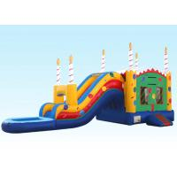 Buy cheap Birthday Cake Water Inflatable Bouncer Combo With Logo Printing product