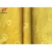 Buy cheap Embossed  Minky Plush Fabric 100% Polyester Patterned Soft Velboa Fabric product