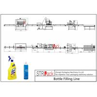 Buy cheap Electric Liquid Bottle Filling Line Large Filling Volume For Foaming Detergent Cleaner product