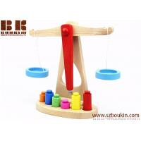 China 10*23.5*24.5cm Preschool Education Toys Making Kids Educational And Happy Wooden Balance scales on sale