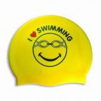 Buy cheap Highly Elastic Silicone Swimming Cap, Customized Logos are Accepted product