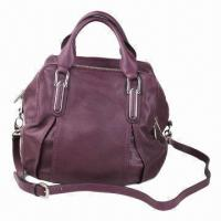 Buy cheap Mauve leather handbag for women, soft leather handbag, available in different colors and sizes product