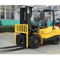 ISUZU Engine Diesel Forklift Truck Energy Saving Yellow Color Turning Radius for sale