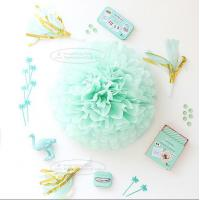 Buy cheap Paper Flower Balls Tissue Paper Pom Poms For  Birthday/Wedding/Party Decorations product