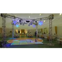 Buy cheap 3 Level Adjustable Height Arclic Glass Portable Movable Stage Platform 400KG Loading Capacity 4 X 4ft product