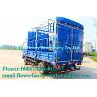 Buy cheap HOWO Light Duty Commercial Trucks / Mini Stake Cargo Truck Blue from Wholesalers