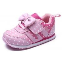 China Soft Bottom Pink Little Kids Shoes Baby Girl Shoes Breathable EUR 21-25 Size on sale