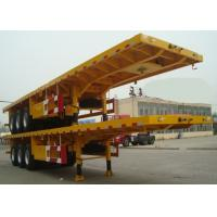 Buy cheap Flat-bed Semi Trailer Truck 3 Axles 30-60Tons 13m for Loading Container product