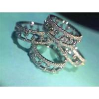 Buy cheap De Beers Eternity Ring 18K White Gold Wedding Ring with VVS Diamonds Fine Jewelry product
