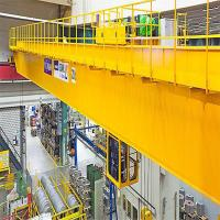 Quality factory electric hoist double trolley overhead cranes with CE certification for sale