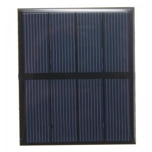 Buy cheap 5V 0.5W Epoxy Mini Solar Panels Black Color PET/ETFE Material Mono Solar Cell from wholesalers