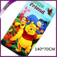 Buy cheap Pure Cotton Velour Reactive Printed Bath Towel Kids Beach Towel With Bear Pattern product