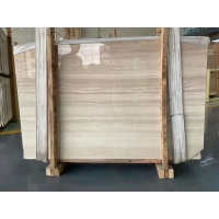 Buy cheap Yellow Royal Wood Grain Marble Stone Slab For Lobby Waterjet Medallion product