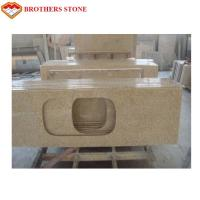 Buy cheap Polished G682 Rust Yellow Granite Stone , G682 Granite Double Sink Vanity Top product