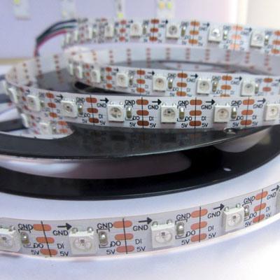 Digital Addressable Apa107 60LEDs/M RGB LED Strip Light