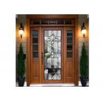 Buy cheap Door Embroidered Beveled Clear Art Glass Sheets ,  Decorative Panel Glass product