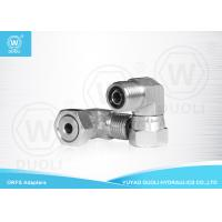 China 90° Elbow Male To Female ORFS Adapters Hydraulic Fittings With White Zinc Plated on sale