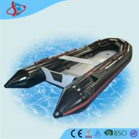 Buy cheap Big Black Motorized PVC Inflatable Boats Waterproof With Aluminum Bottom product