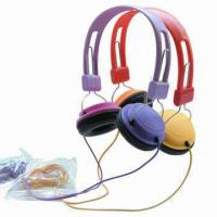 Buy cheap New Retractable Headphones in Various Colors, with 20Hz-20kHz FR/25mW Rated Power/3.5mm Plug product