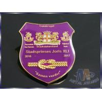 Buy cheap Customizable Business Lapel Pin Badges With Coverd Epoxy Shiny Silver Plating product