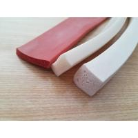 Buy cheap One side Adhesive Close Cell Silicone Sponge Extrusion , Silicone Sponge Cord product