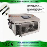 Buy cheap Fully Automatic TTR Kablo 3 Core Power Cable Cutting Stripping Machine Cut & Strip Jacket & Core Wires product