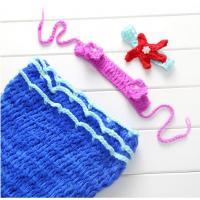Newborn Baby Girls Mermaid Tail Crochet Knitted Photo Props Costume Outfit Dr...