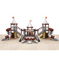 Buy cheap Galvanized steel pipe colorful castle style outdoor playground for park TQ-CB1295 product