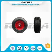 Buy cheap Pneumatic Heavy Duty Rubber Wheels 16 , Replacement Trolley Wheels Anti Skidding product