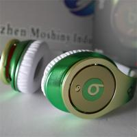 Quality Green with logo, best stereo headphone 2012 for sale