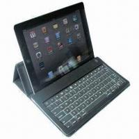 China Aluminum Bluetooth Keyboard with Leather Case for iPad 2/3, Waterproof and Dust-proof Design on sale