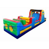 China 40FT Commercial Inflatable Obstacle Course For Rent , Bouncy Obstacle Course on sale