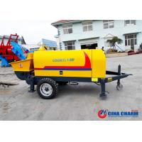 Buy cheap S Valve 10Mpa 20m3 / H Trailer Mounted Concrete Pump With Electric Motor product