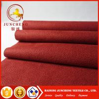 2017 New Synthetic types of red flocked fabric micro suede for sofa