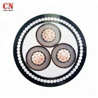 Buy cheap Medium Voltage 3core 15KV CU/XLPE/SWA/PVC Steel Wire Armoured Power Cable product