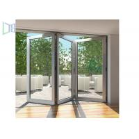 Buy cheap Modern Style Accordion Aluminium Folding Doors Soundproof With Toughened Glass product