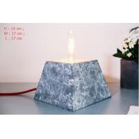 Home deco marble cement pendant lamp rectangle concrete table lamp with lighting