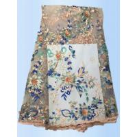 Buy cheap 2017 High Quality Lace  Tulle Styles 3D Embroidery  Laces Fabric With Rhinestone  with Different Color product