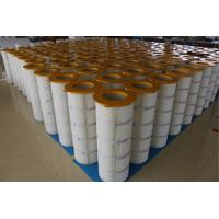 Buy cheap Iron Cover Pleated Filter Cartridge Three - Lugs For Large Dust Concentration product