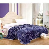 Buy cheap Polyester Microfiber Flannel Fleece Blanket For Home / Hotel Bedding Floral Printed product