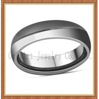 China top quality and nickel free comfort fit mens titanium ring on sale
