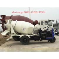 Buy cheap china made 28-32hp 3 wheeler 2 cubic meters small concrete mixer truck from wholesalers