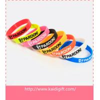 Buy cheap Promotional ink filled silicone bracelet product