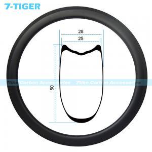 Buy cheap 7-tiger 700C carbon bike rims 50 x 25 mm profile tubular rims wide tire design High TG epoxy resin U shape system product