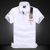 Buy cheap Men's New Latest Sports Design High Quality Short Sleeve Polo Shirt with Emboridery Patches product