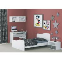 China E1 MDF Melamine Childrens White Bedroom Furniture Sets Space Saving / Self Assembled on sale