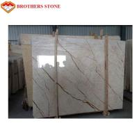 Buy cheap High Polished Sofitel Gold Beige Marble Slab 15mm Thick For Wall Panel Paving Floors product