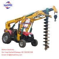 Buy cheap Hydraulic High Power Hole Digger Machine / Large Tractor Post Hole Digger from wholesalers